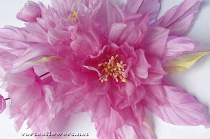 красим ткань для цветов