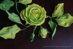 как сделать розу из фома