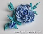 """Роза из фоамирана """"Иоко"""" с применением японских приемов цветоделия. Часть 2"""