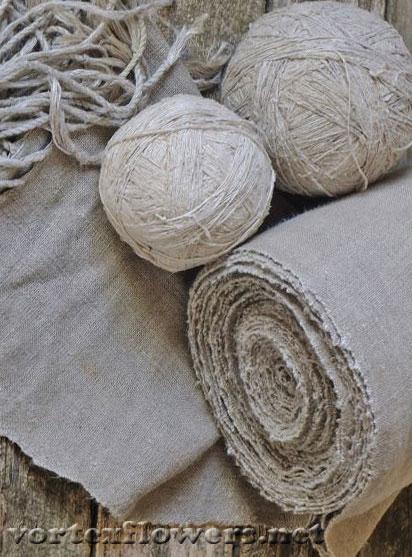 Льняная-ткань