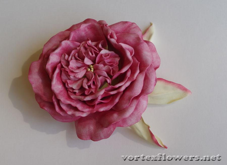 Пионовидная роза из фоамирана мастер