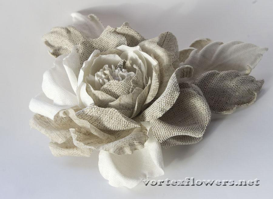 Как сделать из льна цветы 862