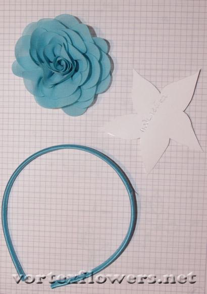 как закрепить цветы на ободке