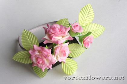 ободок с розами мастер-класс