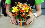 Как сделать красивые букеты из живых цветов?